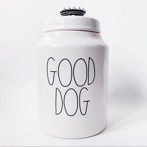 New Rae Dunn GOOD DOG Crown Lid Canister Treats